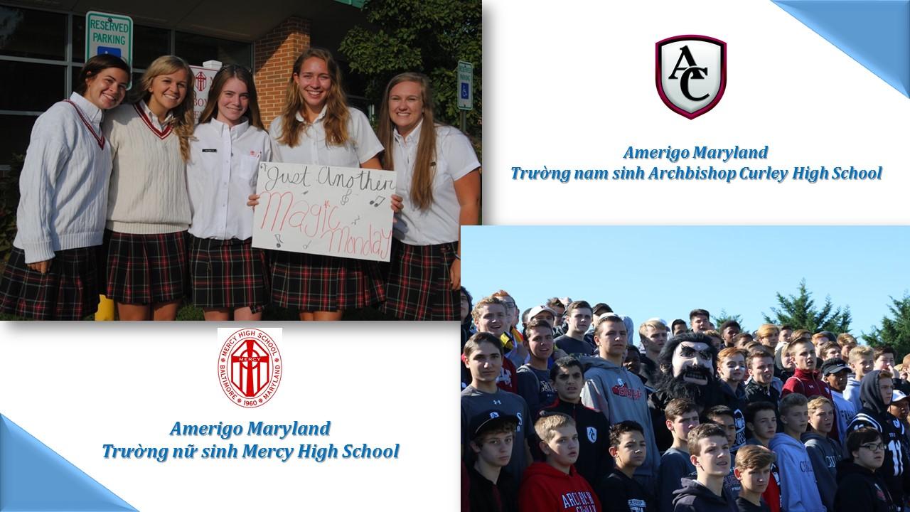 Amerigo Maryland - Giới thiệu các trường THPT tại bang Maryland thuộc tậ đoàn Amerigo