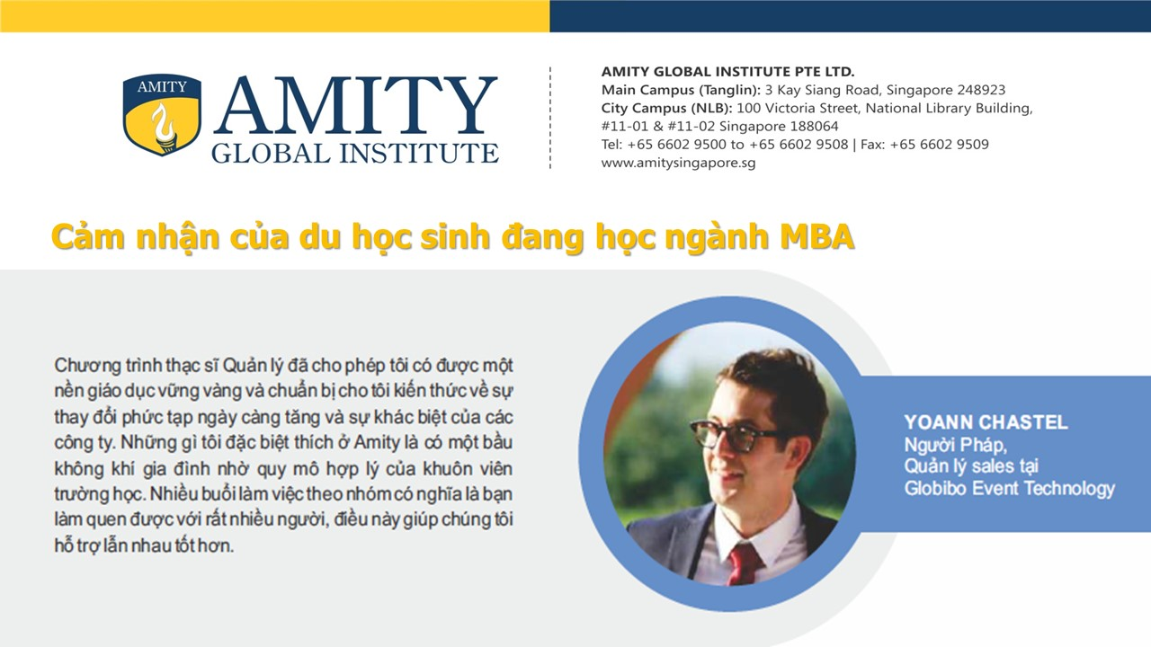 HỌC BỔNG KHỦNG 50% CHƯƠNG TRÌNH MBA THÁNG 5/2018 TẠI TRƯỜNG AMITY