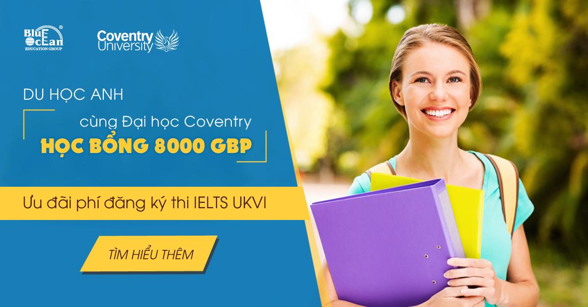 Cơ hội nhận Học bổng lên đến 8000 Bảng Anh tại đại học Coventry - Luân Đôn