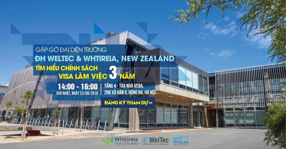 GẶP GỠ ĐẠI DIỆN TRƯỜNG ĐẠI HỌC WELTEC & WHITIREIA, NEW ZEALAND