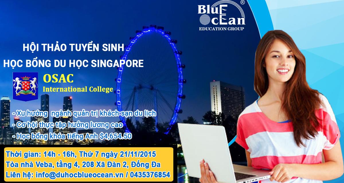 Hội thảo du học Singapore - Xu hướng và Triển vọng ngành Quản trị Khách sạn và Kinh doanh tại Châu Á
