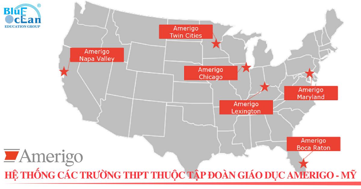 Hệ thống các trường THPT thuộc tập đoàn giáo dục Amerigo Education