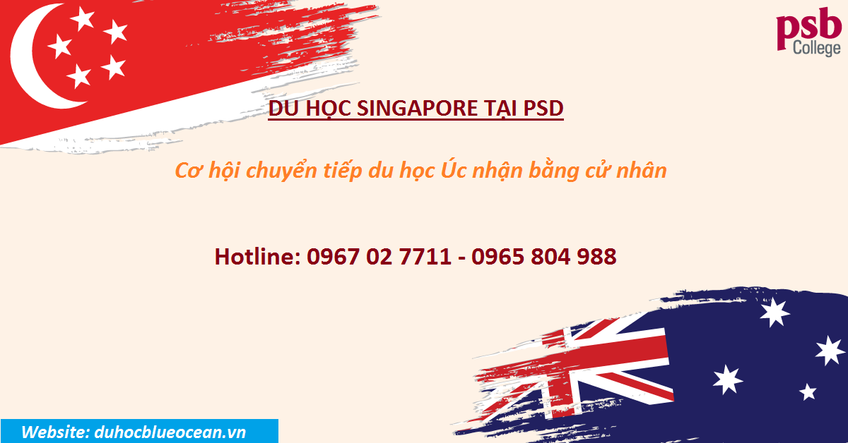 Chuyển tiếp du học Úc lấy bằng cử nhân tại học viện PSB, Singapore