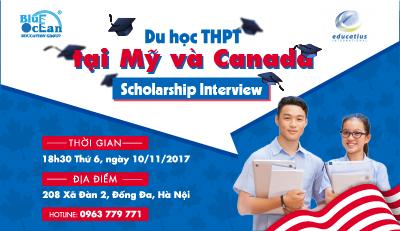 Du học bậc THPT tại Mỹ &Canada – Scholarship Interview tại Blue Ocean