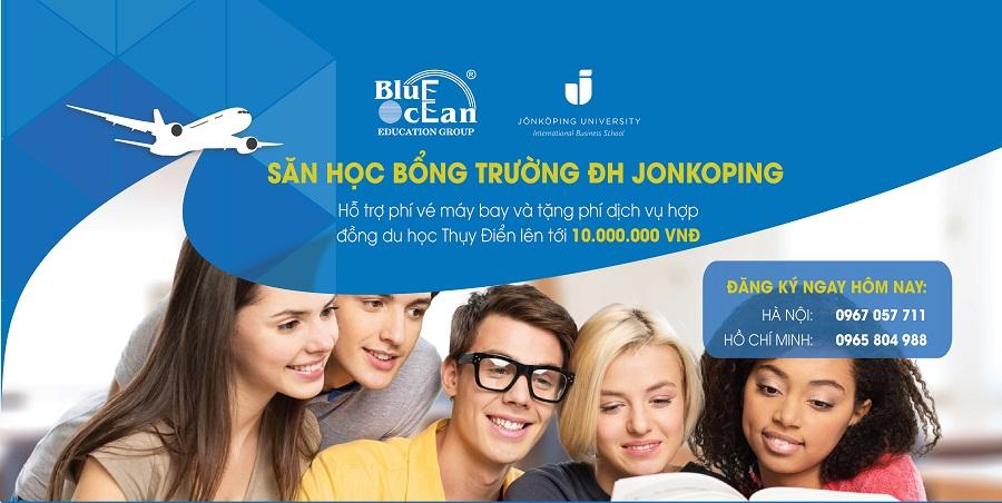 Hỗ trợ phí vé máy bay và tặng phí dịch vụ hợp đồng du học Thụy Điển