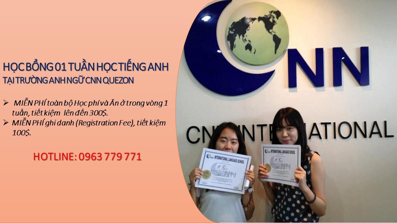 Học Bổng 1 Tuần Miễn Phí Tại Trường Anh Ngữ Cnn Quezon, Philippines