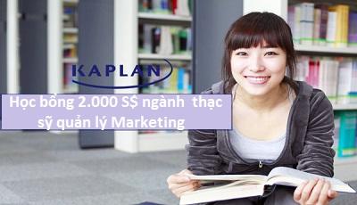 Học bổng 2000S$ khi học tại Kaplan, Singapore ngành thạc sỹ quản lý Marketing của Đại học Northumbria, Anh