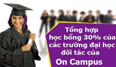 Học bổng đến 30% học phí kỳ 2017 với ON CAMPUS UK & Euro