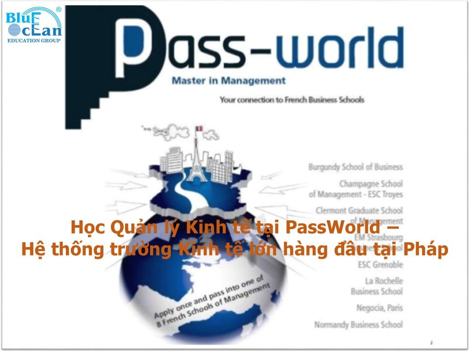 Học Quản lý Kinh tế tại PassWorld - Hệ thống trường Kinh tế lớn hàng đầu tại Pháp