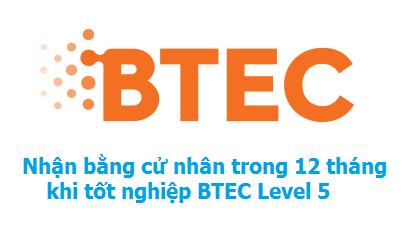 Lấy bằng cử nhân trong 12 tháng khi tốt nghiệp BTEC Level 5