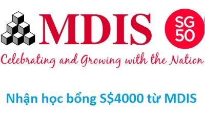 Tổng kết lớp 12 đạt 7.5 nhận ngay học bổng S$4000 từ MDIS, Singapore