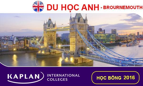 Học bổng du học Anh 2016 chuyên ngành quản trị khách sạn du lịch tại đại học Bournemouth