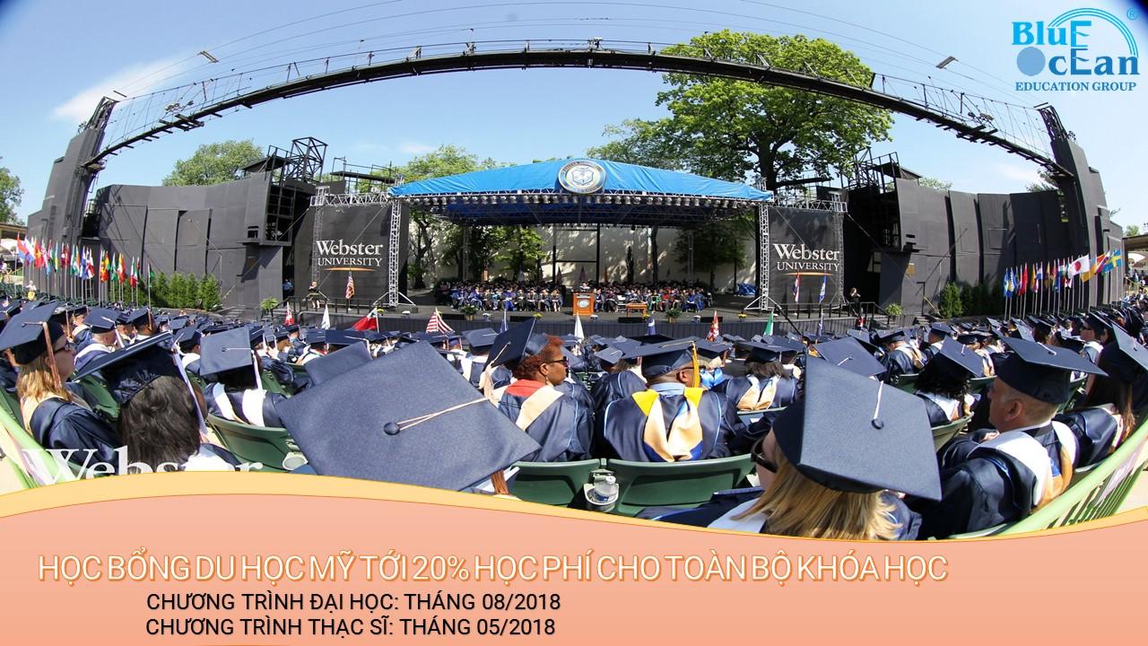 Học bổng du học Mỹ lên đến 20% tại đại học Webster University