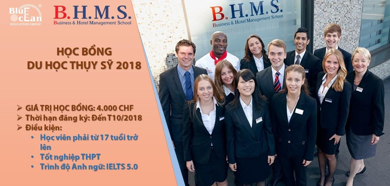 Học bổng du học Thụy Sỹ 2018 tại trường BHMS tới 100 triệu đồng học phí