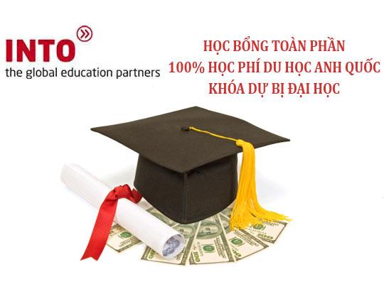 Học bổng du học anh toàn phần 100% khóa dự bị đại học của tập đoàn Into