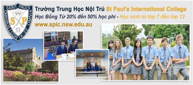 Săn học bổng du học Úc 2016 tại trường trung học nội trú St Paul