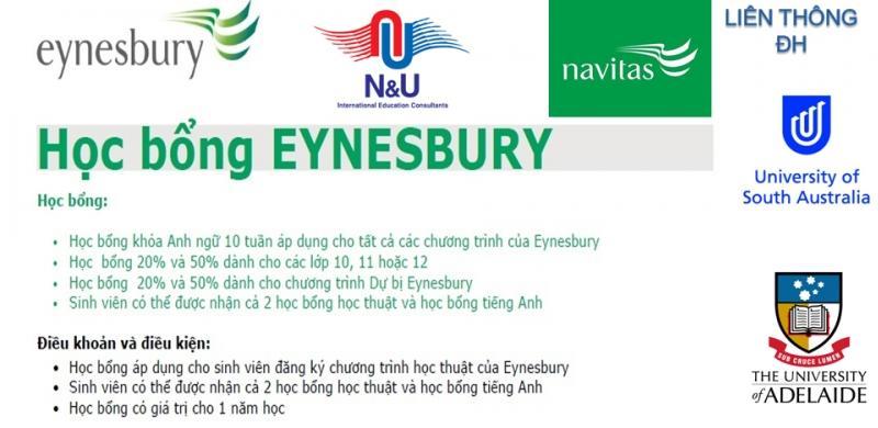 Du học Úc - Học bổng trung học 50% trường Eynesbury