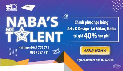 NABA'S GOT TALENT: Chinh phục học bổng Arts & Design tại Milan, Italia trị giá 40% học phí