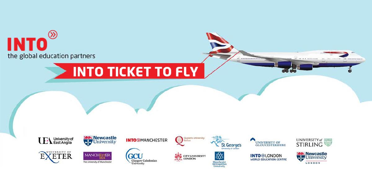 Học bổng INTO Scholarship – Tặng vé máy bay tới ngay Anh Quốc