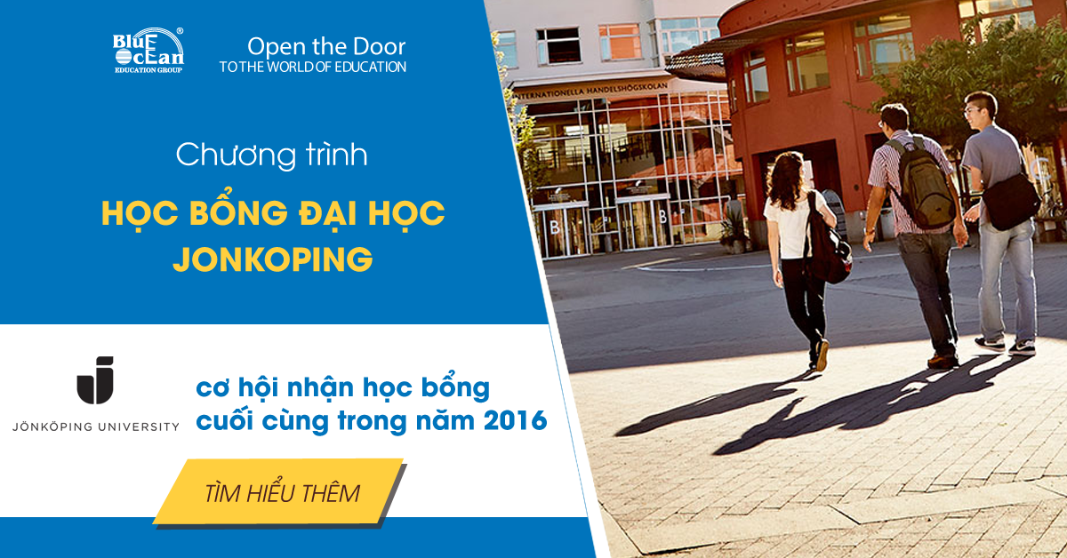 Cơ hội cuối cùng đăng ký học bổng 2016 Jonkoping