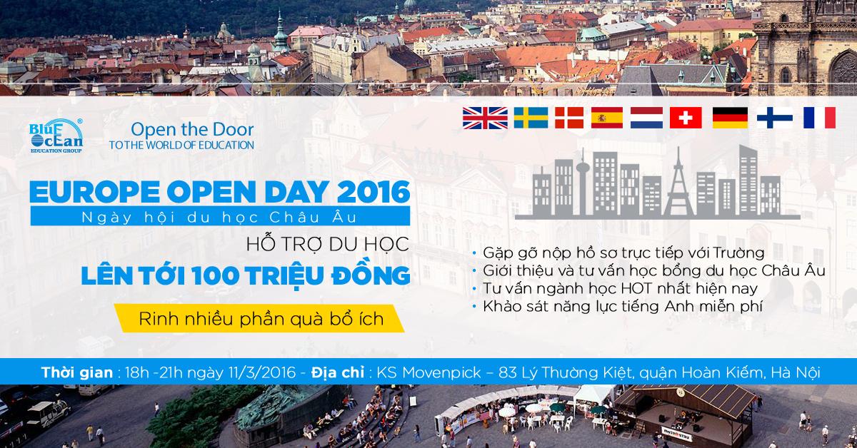 Ngày hội du học Châu Âu - Europe Open Day 2016