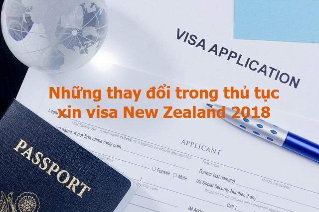 Những thay đổi mới nhất về thủ tục visa New Zealand 2018