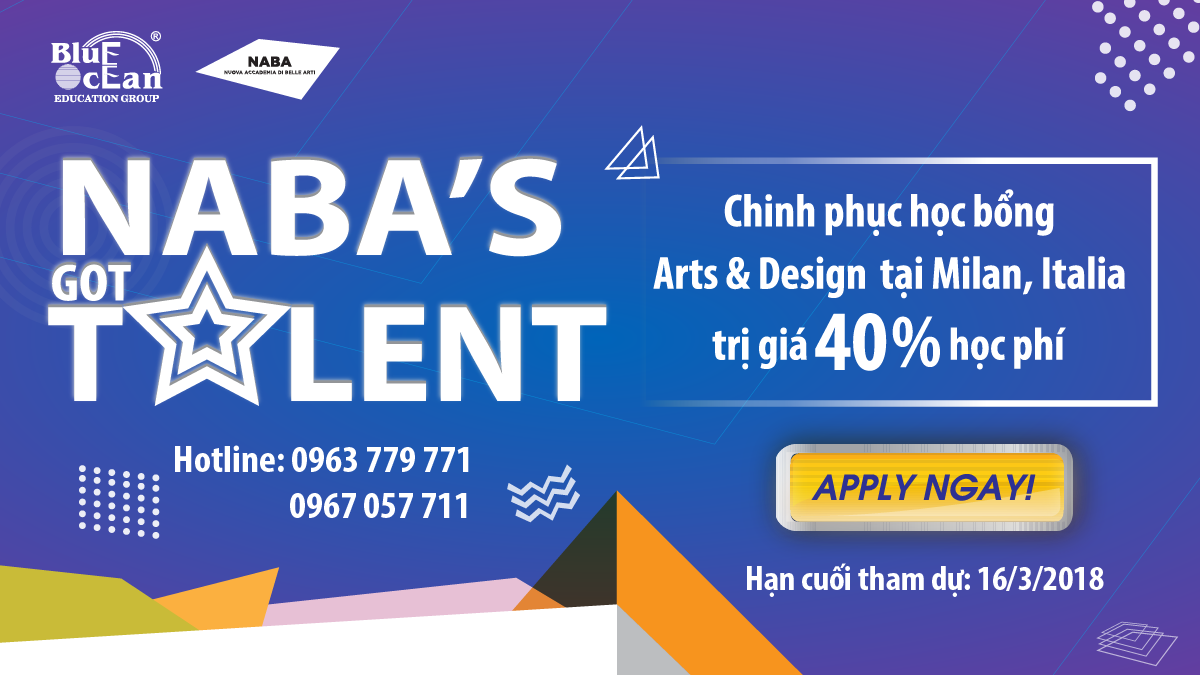 Học bổng du học Ý - NABA'S GOT TALENT 2018