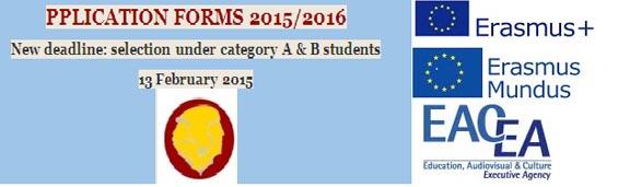 Học bổng ERASMUS MUNDUS 2015 - 2016