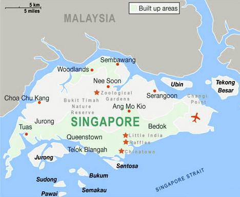 bản đồ đất nước singapore